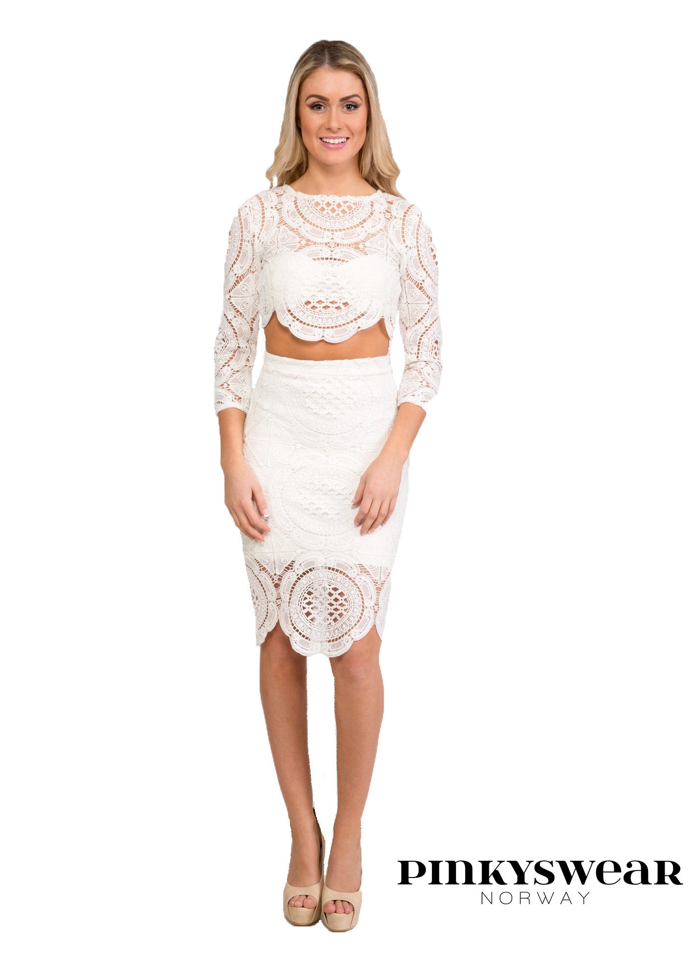 Claudia Two Piece - white
