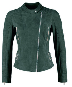 Ellie leather jacket - olive