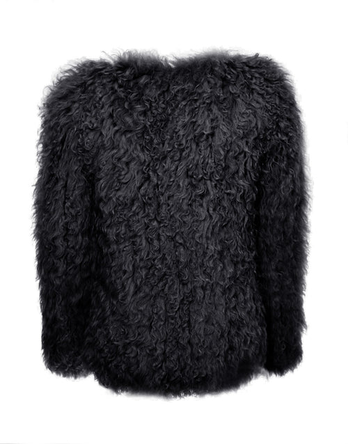 Knitted Lamb Jacket - black