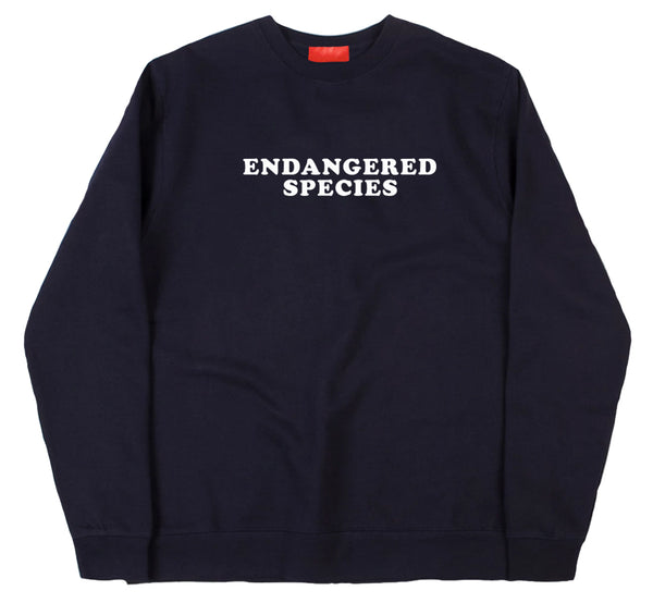 Endangered Species Blue Navy Sweater