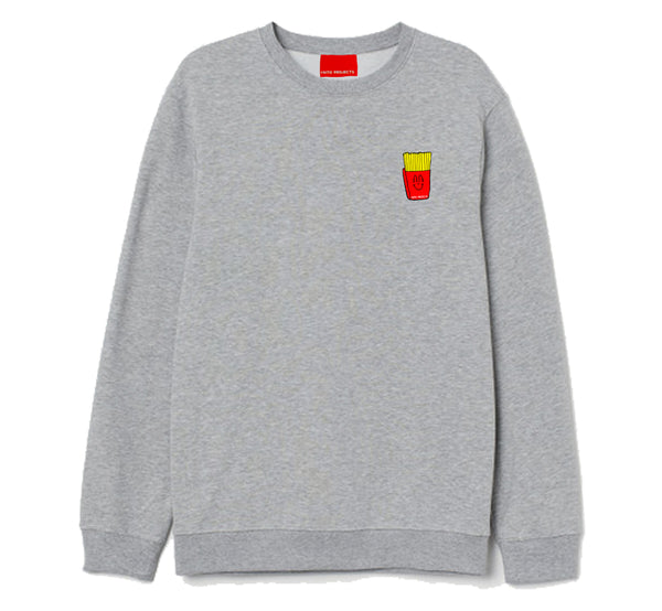 French Fries Grey Sweater