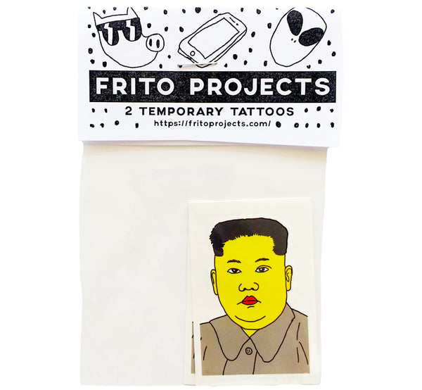 Kim Jong-un Temporary Tattoo
