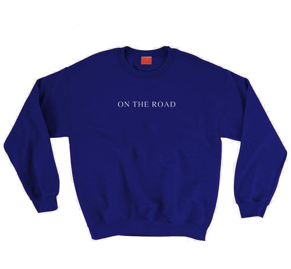 On The Road Blue Sweater