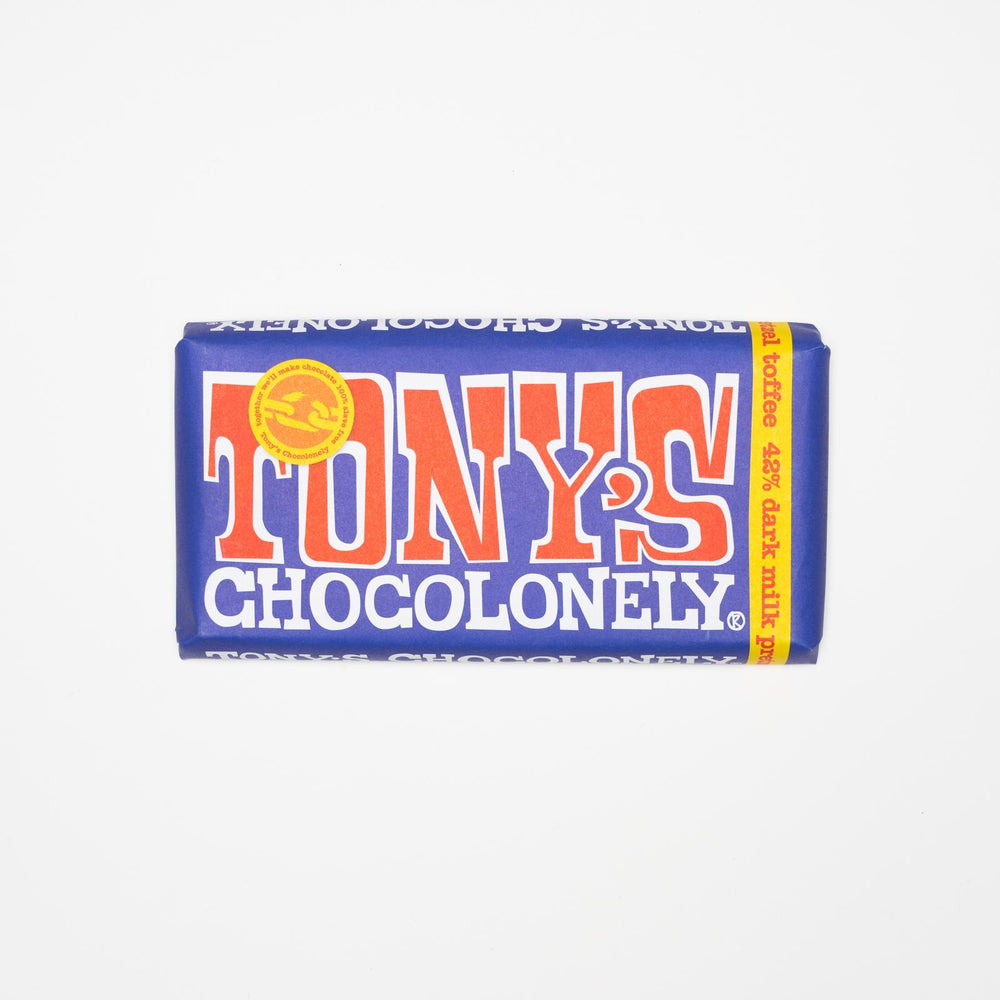 Tony's Chocolonely - Dark Milk Chocolate with Pretzels and Toffee