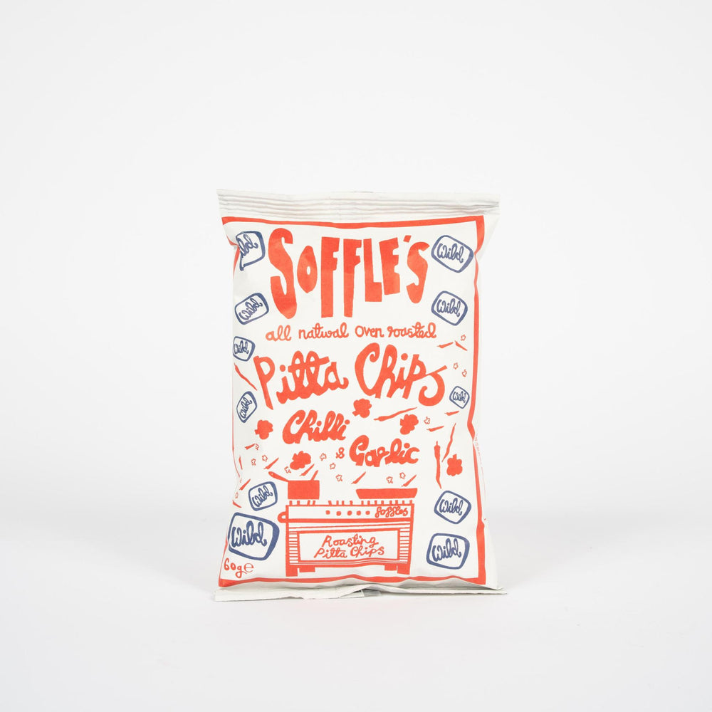 Soffle's Pitta Chips - Wild Chilli and Garlic 60g