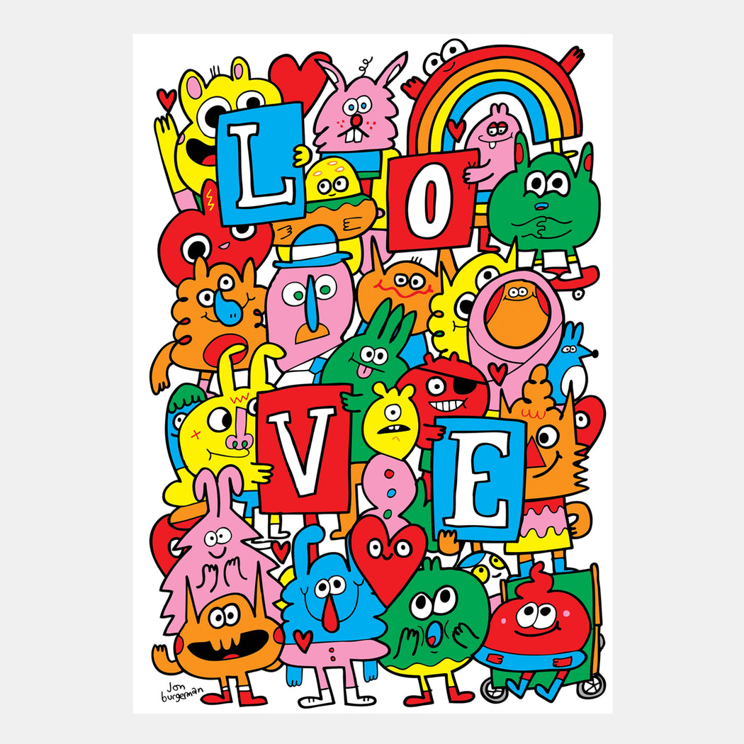Love by Jon Burgerman