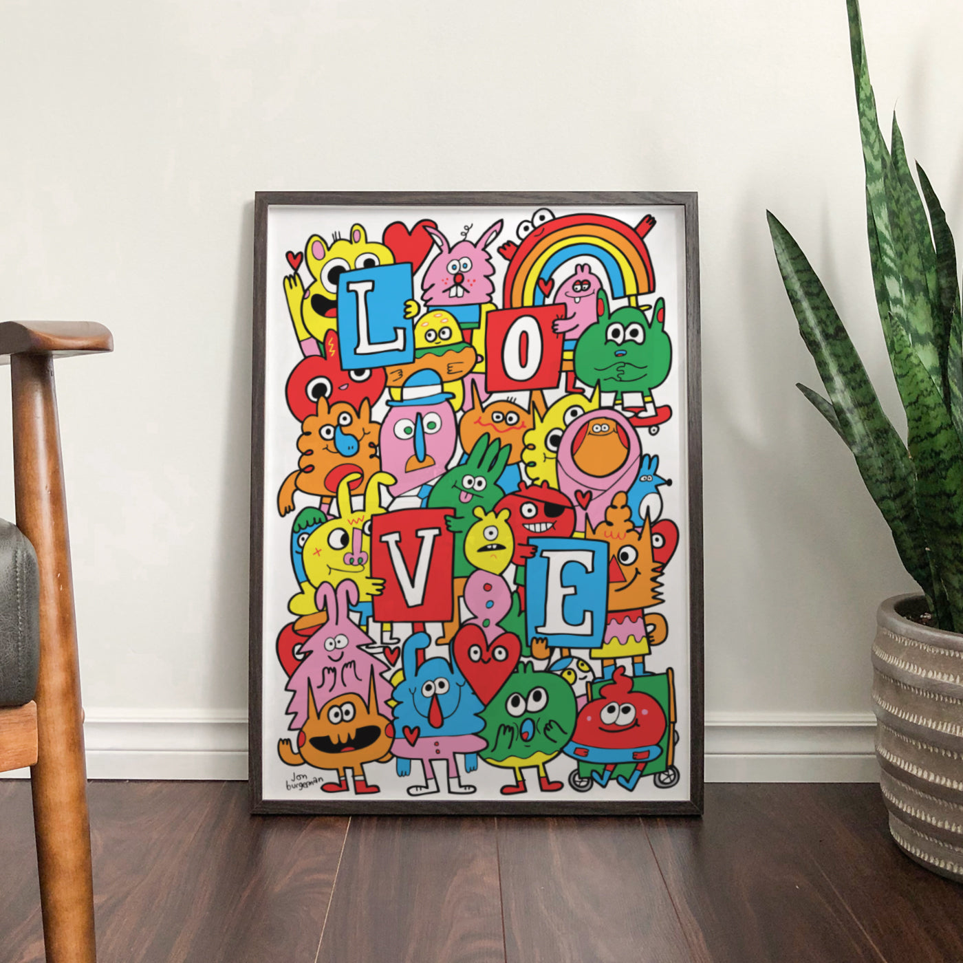 Jon Burgerman: Love