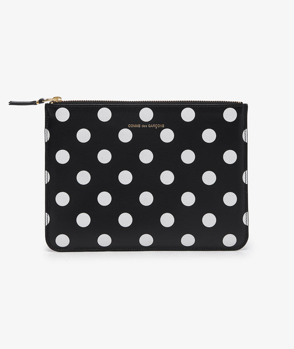 Comme des Garçons:  Polka Dots Large Wallet (Black/White) - Hen's Teeth Store