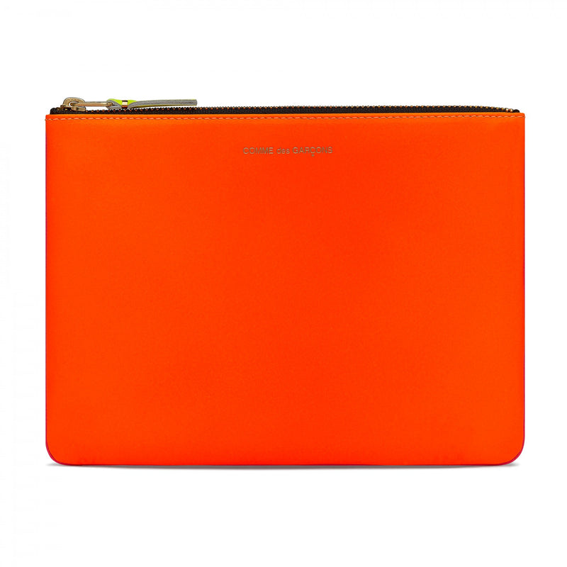 Comme des Garçons: Super Fluo Large Wallet (Light Orange/Pink) - Hen's Teeth Store