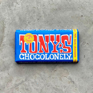 Tony's Chocolonely- Belgian Fairtrade 70% Dark Chocolate