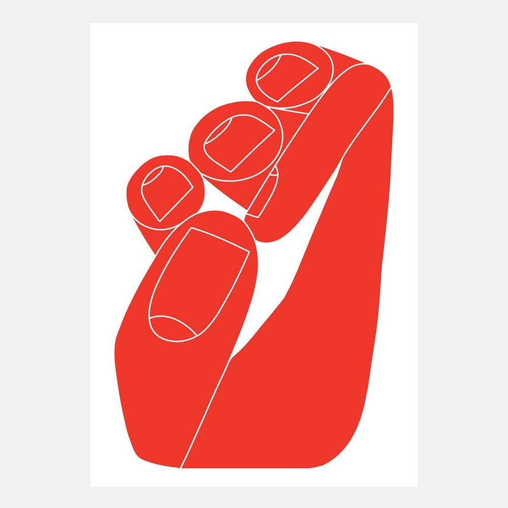 Load image into Gallery viewer, Sebastian Curi - Hand (Red)