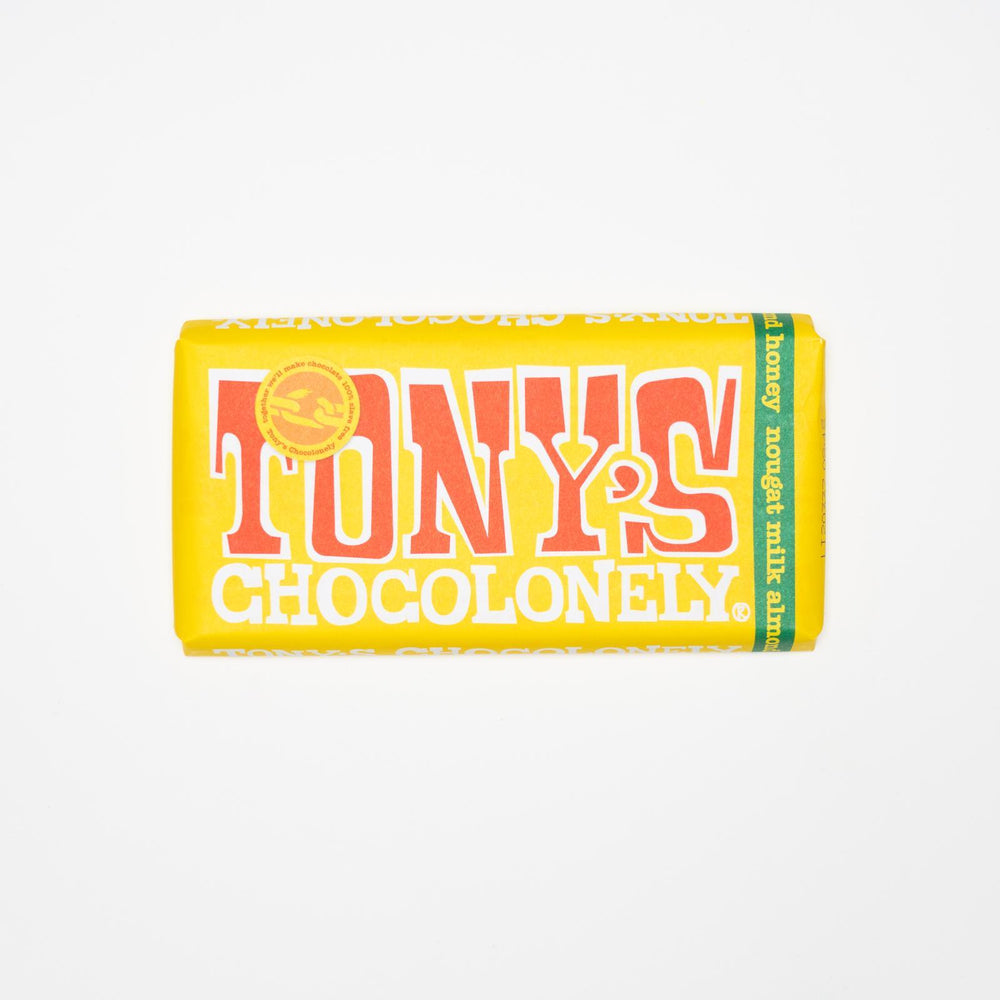 Tony's Chocolonely - Milk Chocolate with Almond Honey Nougat Pieces