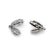 Bail, Cubic Zirconia Bail, Sterling Silver, Available in 2 Sizes - 1pc
