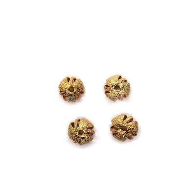 Spacers, Flower Spacer, Alloy, Rose Gold, 6mm X 13mm,  Sold Per pkg of 4