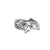 Bail, Dolphin with Cubic Zirconia, Sterling Silver, 16mm X 11mm - 1pc