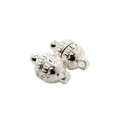 Silver Magnetic Clasp, Silver Alloy, 10mm x 6mm, Sold Per pkg of 1