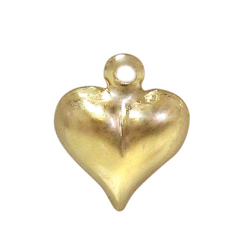 Charm, Heart, 14K Gold Filled, 10mmL x 10mmW , Sold Per pkg of 1