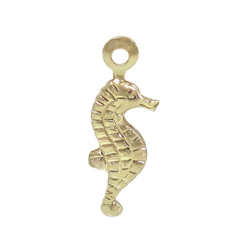 Charm, Seahorse, 14K Gold Filled, 11mm L x 5mm W, Sold Per pkg of 1