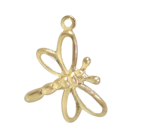 Charm, Dragonfly, 14K Gold Filled, 14mm L x 14mm W, Sold Per pkg of 1