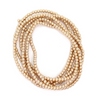 Glass Pearls, Tan, 4mm  - 1mm (hole), 210 pcs per strand