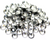 Rhinestone Hotfix Flat Back, SS-20, Alloy, Crystal, 4mm x 4mm, 4 grams each