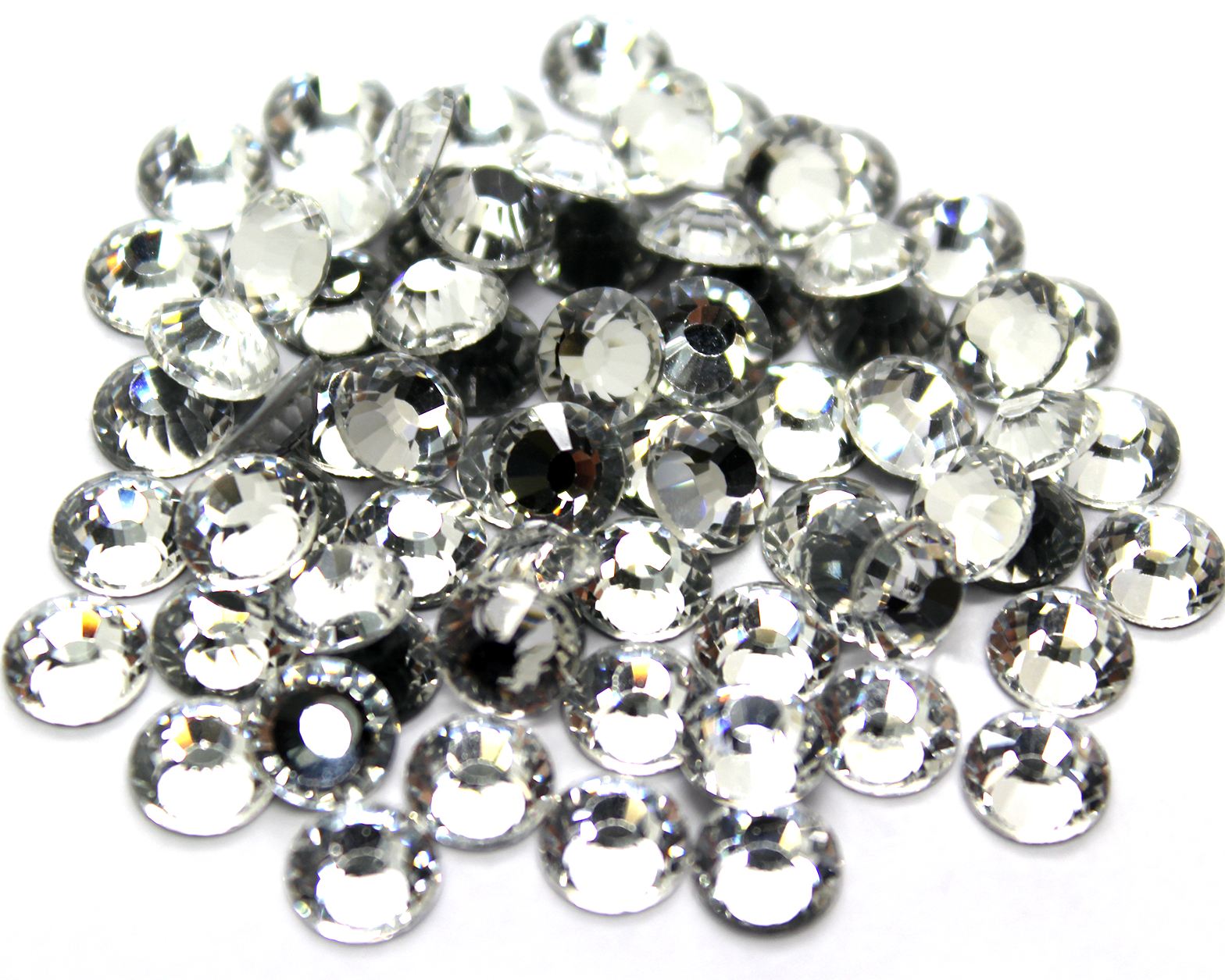 Rhinestone Hotfix Flat Back, SS-34, Alloy, Crystal, 7mm x 7mm, 3.5 grams each