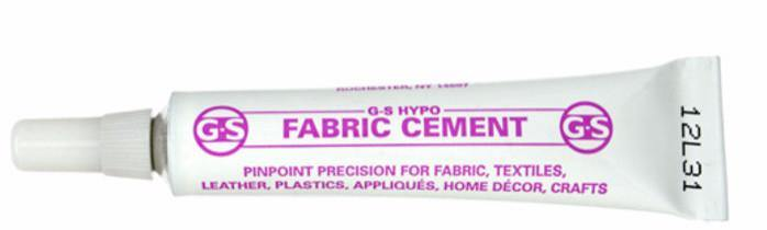 Adhesive, G-S Hypo Fabric Cement Glue. Sold per 9ml tube