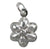 Charm, Flower , Sterling Silver,  9.5mm Diameter , Sold Per pkg of 1