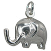 Charms, Elephant, Sterling Silver, 9mm X 15mm X 7mm, 1pc