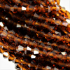 Chinese Glass Crystal, Bicone, Brown, 6mm, 45 pcs per strand