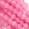 Marble Style Glass Beads, Bubblegum Pink, 4mm  - 1mm (hole), 195 pcs per strand