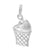 Charm, Basketball, Sterling Silver, 16mm X 11mm , Sold Per pkg of 1