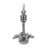 Charm, Guitar, Sterling Silver, 19mm x 14mm , Sold Per pkg of 1