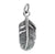 Charm, Smooth Detail Feather, Sterling Silver, 16mm X 6mm X 1mm, Sold Per pkg of 1