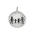 Charm, Family, Sterling Silver, 12mm X 1mm, Sold Per pkg of 1