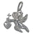Charm, Angel , Sterling Silver, 18mmL X 17mmW , Sold Per pkg of 1