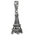 Charm, Eiffel Tower, Sterling Silver, 21mm L x 8mm W, Sold Per pkg of 1