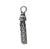 Charm, Tassel, Oxidized plated on Sterling Silver, 20mm X 4mm , Sold Per pkg of 1