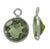 Charm, Peridot, Rhodium plated on Sterling Silver, Sold Per pkg of 1