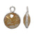 Charm, Golden Rutilated Quartz, Rhodium plated on Sterling Silver, Sold Per pkg of 1