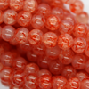 Marble Style Glass Beads, Coral, 6mm  - 1mm (hole), 140 pcs per strand
