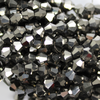 Chinese Glass Crystal, Bicone, Dark Grey Metallic, 6mm, 45 pcs per strand