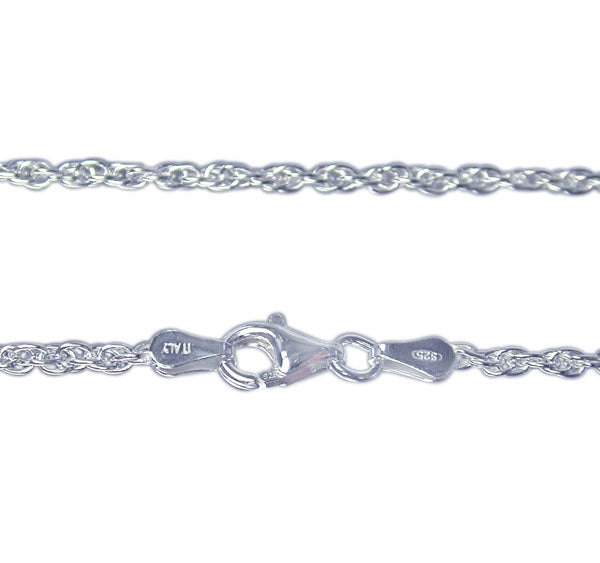 Chain, Smooth Wheat, Sterling Silver, 16inch - 1pc