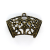 Pendants, Star Hand Clasp, Brass, Brass Alloy, 40mm x 22mm, Sold Per pkg of 1
