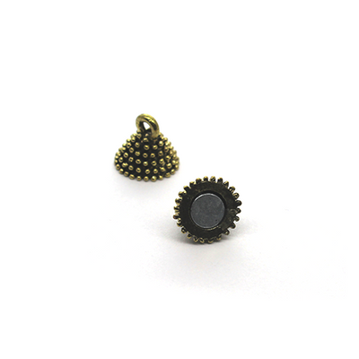 Clasp, Magnetic Pinecone Clasp, Gold, Alloy, 17mm x 9mm, Sold Per pkg of 1