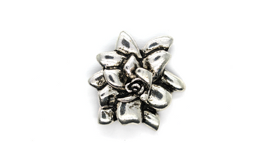 Pendants, Multi-Layered Flower, Silver, Alloy, 35mm X 42mm, Sold Per pkg of 1
