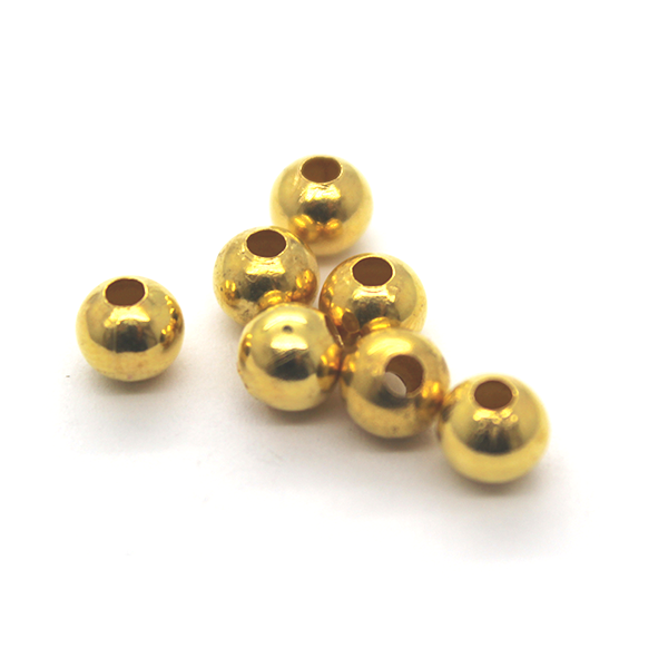 Spacers, Sphere , Alloy, Gold, 5.5mm X 6mm, Sold Per pkg of 41+ - Butterfly Beads