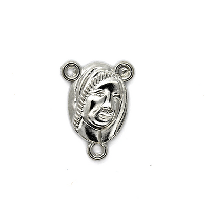 Charms, Ave Maria Centerpiece, Silver, Alloy, 18mm x 13mm, Sold Per pkg 6