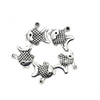 Charms, Gold Fish, Silver, Alloy, 17mm X 18mm, Sold Per pkg of 5