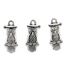 Charms, Sitting Owl, Silver, Alloy, 21mm X 9mm X 5mm, Sold Per pkg of 6
